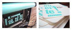Impresión tipográfica con tipos de madera de peral sobre cartón 100% algodón.