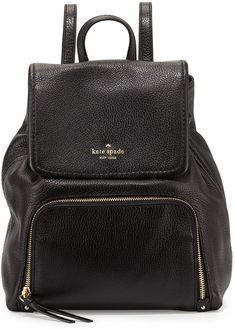 Kate Spade New York Cobble Hill Charley Leather Backpack, Black