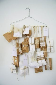 Brown Paper Packages Tied Up With String Advent Calendar