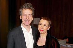 Peter Capaldi, Doctor Who With wife Elaine Collins. Married in they have a daughter Cecily. Elaine is Executive Producer of shows such as Vera and Shetland. Peter Capaldi, Missing My Wife, Rose And The Doctor, Twelfth Doctor, 12th Doctor, Scottish Actors, British Actors, New Doctor Who, Gladys Knight