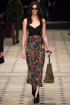 Reminds me of the Dresses I Used to Wear back in the Late 70's, Burberry Fall 2015