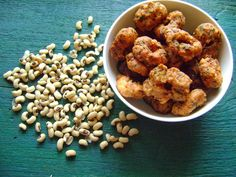 Akara - Nigerian black-eyed pea fritters. So simple. So good.  Soft on the inside. Crunchy on the outside.   Black-eyes peas, onion, ginger, fresh coriander and salt. That's it!