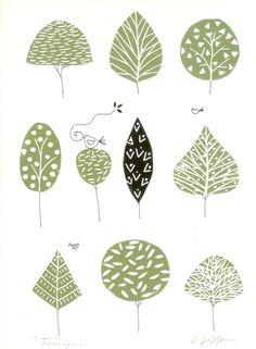Trees Lino Print £28.00