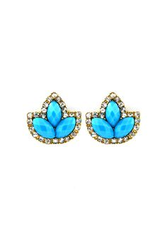 Marquise Custer Earrings in Tempting Blue