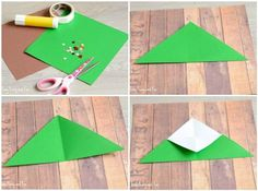 Christmas Tree Corner Bookmarks – Origami for Kids (Easy Peasy and Fun) Christmas Gifts To Make, Christmas Crafts For Kids, Xmas Crafts, Oragami Christmas Tree, Christmas Tree Decorations, Origami Mouse, Origami Fish, Origami Star Box, Origami For Beginners