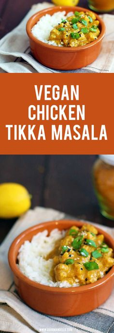 This is the best vegan chicken tikka masala recipe you can make and it really resembles the original, meat-based recipe. It's ready in just 20 minutes and you can serve it over basmati rice. Enjoy! #tikkamasala #indian #veganrecipes