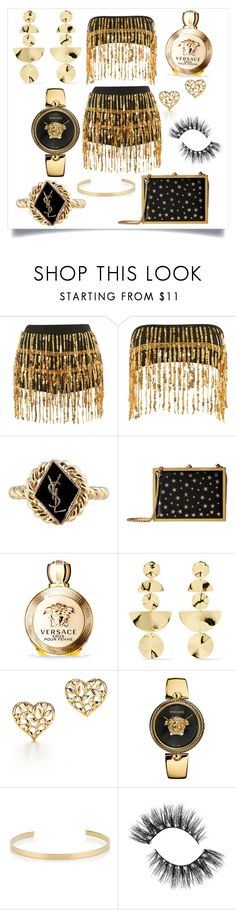 """""""Untitled #1318"""" by fashionqueen886 ❤ liked on Polyvore featuring Jaded, Yves Saint Laurent, Alice + Olivia, Versace, Ippolita, Paloma Picasso and Jennifer Fisher"""