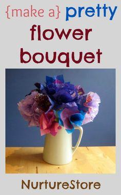 Pretty spring flower craft for kids