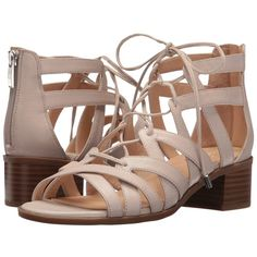 Franco Sarto Ocean (Satin Taupe Leather) Women's Shoes ($95) ❤ liked on