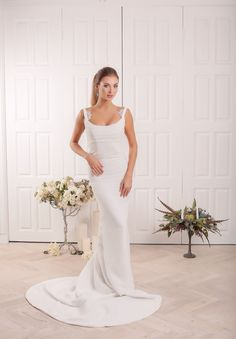 The front of this sheath gown is just as beautiful and elegant as its back  An absolute feminine look  For info contact us on whatsapp at +14153595829 or email info@onovian.com