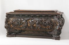 Cassone (one of a pair) Date: ca. 1550–60 Culture: Italian, Rome Medium: Walnut, carved and partially gilded