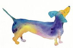 Dachshund Note Cards by CydRiddle on Etsy