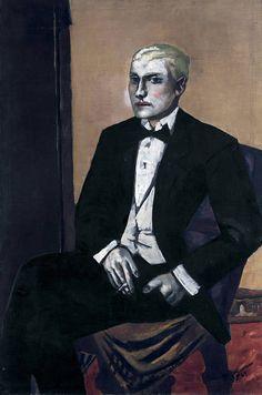 Max Beckmann (German, 1884-1950), Young Argentine, or Portrait of an Argentinian, 1929. Oil on canvas, 125 x 83.5 cm. Pinakothek der Moderne, Munich.