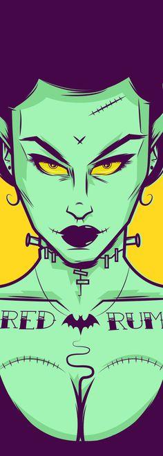 Bride of Frankenstein's monster Arte Horror, Horror Art, Horror Movies, Beetlejuice, Zombies, Halloween Party Flyer, Dc Comics, Frankenstein's Monster, Monster Mash