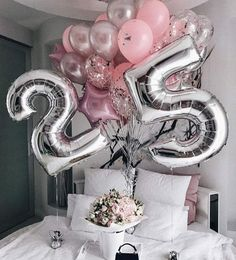 32 Inch Big Foil Birthday Balloons Air Helium Number Balloon Figures Happy Birthday Party Decorations Kid Baloons Birthday Balon – Home & Garden 25th Birthday Ideas For Her, 25th Birthday Parties, Birthday Goals, Birthday Gifts For Her, Birthday Party Decorations, Girl Birthday, Birthday Surprise Ideas, 18th Birthday Celebration Ideas, Happy 25th Birthday
