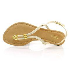 Sandália rasteira Bialee preço baixo na Vizzent Calçados - VZ BEGE