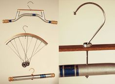 Cycle hangers: New life induced to an old bicycle Old Bicycle, Garage Gym, Spare Parts, New Life, Diy, My Room, Contemporary Design, Repurposed, Hanger