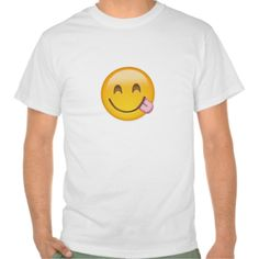 Face Savouring Delicious Food Emoji T Shirt