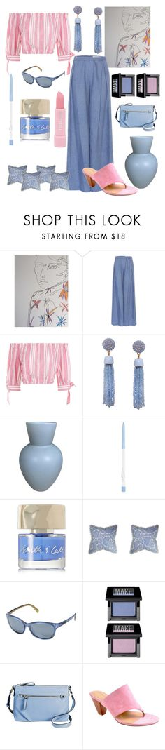 """Periwinkle & Pink💅"" by mdfletch ❤ liked on Polyvore featuring Carolina Herrera, Humble Chic, Smith & Cult, SunCloud Polarized Optics, Make, Merona, Adrienne Vittadini, Forever 21 and Periwinkle"