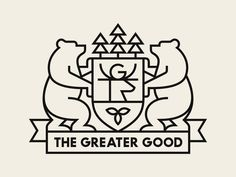 The Greater Good designed by Doublenaut. Connect with them on Dribbble; the global community for designers and creative professionals. Logos, Logo Branding, Branding Design, Logo Design, Pub Logo, Type Logo, Shield Icon, City And Colour, Logo Line