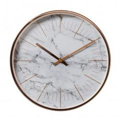 Mercer + Reid Marble Clock 30cm, clock, copper clock