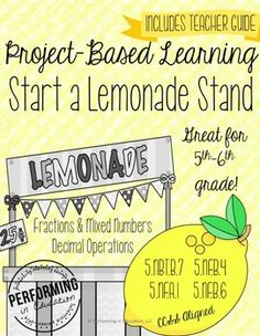 **Updated June 10th. Updates are always free if you've purchased the resource before, so make sure to redownload!GO HERE FOR A VIDEO PREVIEW: https://youtu.be/VGpmbyM5sqELemonade Stands are a part of growing up! In this project, kids will be given a budget to purchase supplies for their lemonade stand.