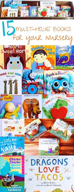15 Best Children's Books — First Thyme Mom. Books that every baby needs for their nursery. These are the best books for any baby or child!