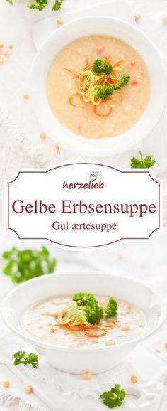 Rezept für gelbe Erbsensuppe von herzelieb - Suppenrezepte sind einfach genial! Traditionell wird diese Suppe in Dänemark donnerstags gegessen!