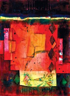 """Inside the Box (acrylic, 30×22) by Marie Cummings, featured in """"Journeys to Abstraction""""  #artinspiration #creativity"""