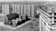St Francis's Church and Friary, Gorbals, Glasgow, circa 1965