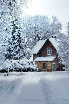 Winter Cabin.