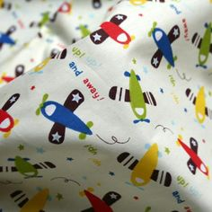 [Visit to Buy] 1 Meter Width 160cm Cartoon Airplane Printed Cotton Fabric,Baby Bedding Textile,Home Textile,Sewing Upholstery Fabric Material #Advertisement