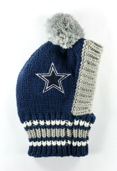 ffcaa6633 DALLAS COWBOYS NFL Official Licensed Crown Knit Hat for Dogs in color Navy.  Warm