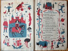 """Endpapers from """"Best in Children's Books"""" series, Nelson Doubleday, Inc. 1960"""