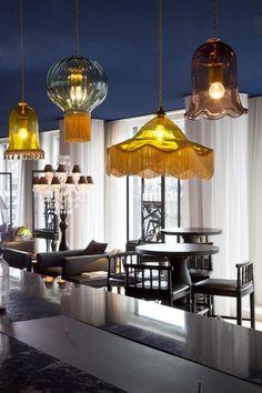 leuk idee van meerdere lampen door Marcel Wanders