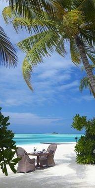 Private dinner on the beach...Dream Date!!  ---Naadhu, Maldives