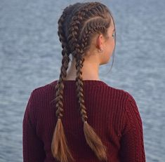Edgy braids! Good for a workout hairstyle