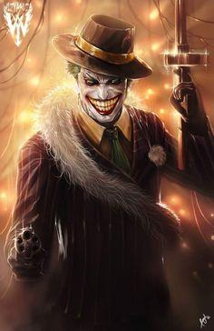 The Joker by Ceasar Ian Muyuela Ready for some action behind a burning Gotham Joker Batman, Spiderman, Joker Cartoon, Joker Comic, Gotham Batman, Batman Art, Batman Robin, Der Joker, Joker Und Harley Quinn