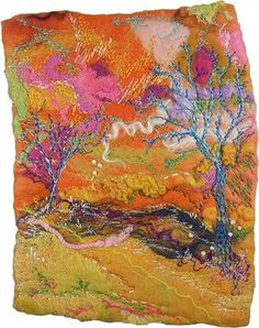 Felt and Stitch Winter Hillside from http://rosiepink.typepad.co.uk