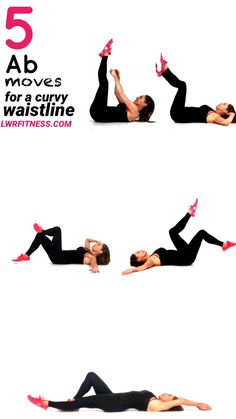 Ab Workout - Here are 5 great moves that work your abs and waist and give you great curves as your are focusing on using all your ab muscles. Ab & Waist Workout for Women at Home - Fitness Tipps Waist Workout, Belly Fat Workout, Waist Exercise, Bed Ab Workout, Lower Tummy Workout, Stomach Workout For Beginners, Arm Workout Women No Equipment, Inner Leg Workouts, Curvy Workout
