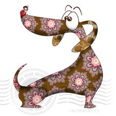 Dachshund Clube - cute illustration!