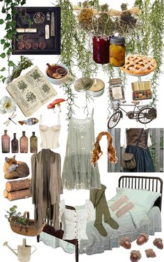 Witch Aesthetic, Aesthetic Fashion, Nature Witch, Witch Cottage, Green Witchcraft, Witch Fashion, Witch Outfit, Illustration, Indie