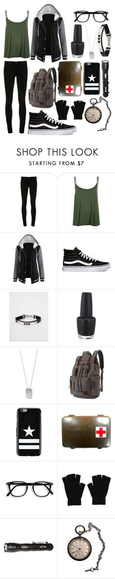 """""""Aris Character #1"""" by bellaangelina ❤ liked on Polyvore featuring AG Adriano Goldschmied, WearAll, Vans, OPI, BillyTheTree, Givenchy and 5.11 Tactical"""