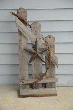 Fence... made from rough lumber...stars will differ according to what I have:)