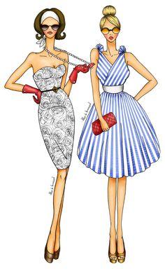 alba de armengol illustration fashion figurines