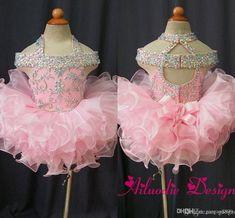 2016 Mini Ball Gown Sparkly Bling Flower Girl Dresses Girls Glitz Pageant Dresses Infant Toddler Baby Dresses Kids Frock Design Miniature Bride Dresses Navy Flower Girl Dresses From Gaogao8899, $63.32| Dhgate.Com