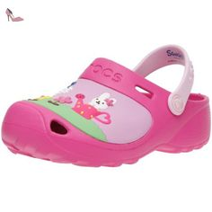 Crocs Hello Kitty Lined Custom Clog, Sabots mixte enfant, Rose (Fuchsia/Bubblegum), 33-34 EU (J2) - Chaussures crocs (*Partner-Link)