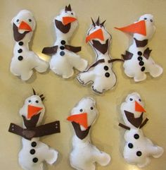 Project for the Kids:  Easy Olaf Softies with Template