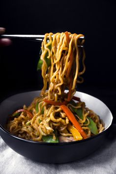 Teriyaki Veggie & Noodle Stir-Fry | Gluten, Dairy, and Egg Free  Going to try this recipe with brown rice ramen that I bought at Costco.