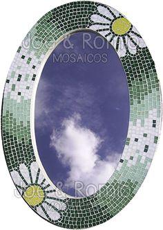"""{Estúdio Joe & Romio} mosaicos: Espelhos em mosaico - Série """"Daises"""""""